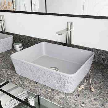 Sink Set w/ Gotham Faucet in Brushed Nickel w/ Pop-Up Drain