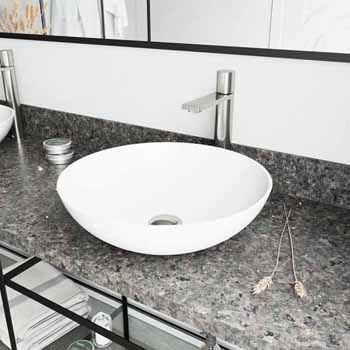 Sink & Gotham Faucet in Brushed Nickel w/ Pop-Up Drain
