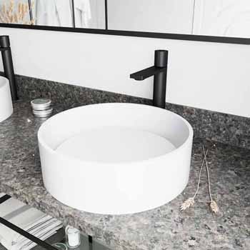 Sink & Gotham Faucet in Matte Black w/ Pop-Up Drain