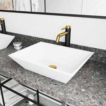 Sink & Lexington cFiber Faucet in Matte Brushed Gold & Matte Black