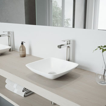 VGT943 Sink Set w/ Amada Faucet Brushed Nickel