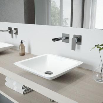 VGT975 Sink Set w/ Atticus Faucet Chrome