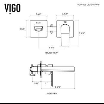 VIG-VGT980 Faucet Specifications