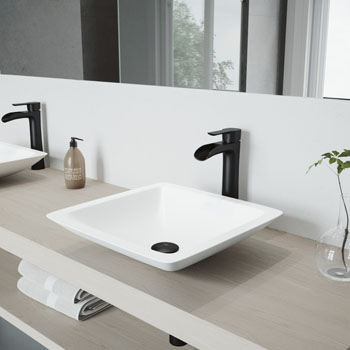 VGT984 Sink Set w/ Niko Faucet Matte Black