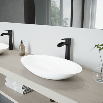 VGT987 Sink Set w/ Niko Faucet Matte Black