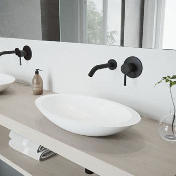 VGT994 Sink Set w/ Olus Faucet Matte Black