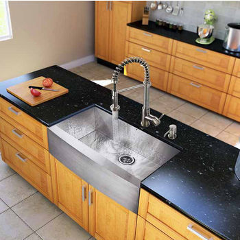 "Vigo All in One 36"" Farmhouse Stainless Steel Kitchen Sink and Faucet Set, VIG-VG15139"