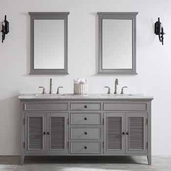 amazing marble countertop sink design and modern faucet.htm piedmont 72   double sink vanity set in grey with carrara white  piedmont 72   double sink vanity set in