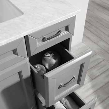 Grey - With Mirror - Drawers Close up 2