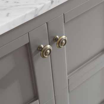 Grey - With Mirror - Drawers Close up