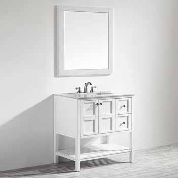 White - With Mirror - Side View