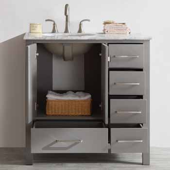 Grey - Drawers Open