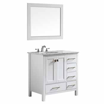 White - With Mirror - Display View 2