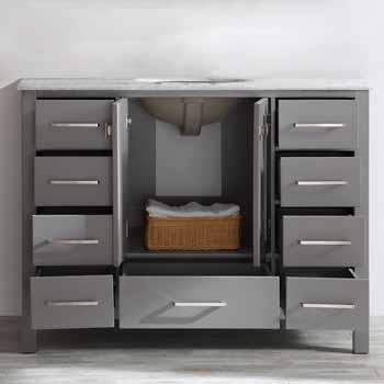 Grey - No Mirror - Drawers Open