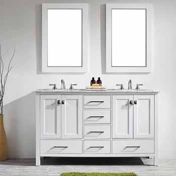 60'' White - With Mirror - Lifestyle View