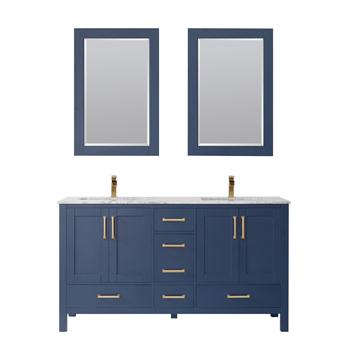 Vinnova Bathroom Vanity 60'' Display View Blue