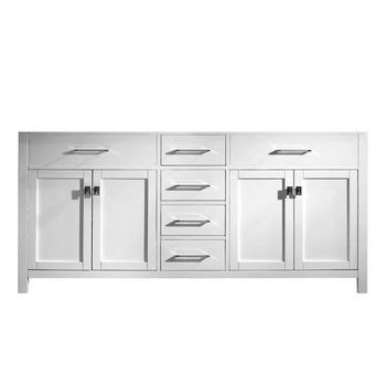Virtu USA 72u0027u0027 Caroline Double Sink Cabinet, White