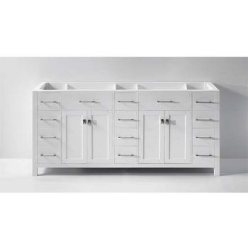 Virtu USA 72u0027u0027 Caroline Parkway Double Sink Cabinet, White