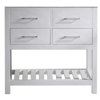 Virtu USA 36  39   39  Caroline Estate Single Sink Cabinet  White. Bathroom Vanities By Virtu USA   Freestanding  amp  Wall Mounted