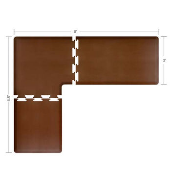 Puzzle Piece Mat in Brown