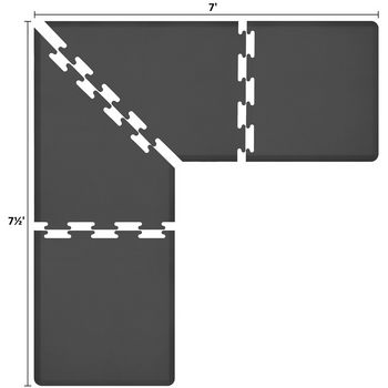 Puzzle Piece Mat in Black