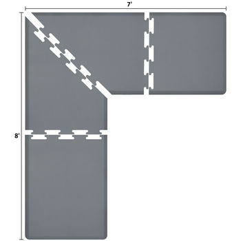 Puzzle Piece Mat in Grey