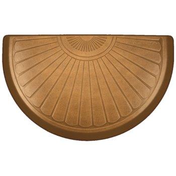 "WellnessMats Studio Semi Sunburst Collection 36"" x 22"" Anti-Fatigue Floor Mat in Copper Leaf, 36"" W x 22"" D x 3/4"" Thick"