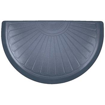 "WellnessMats Studio Semi Sunburst Collection 36"" x 22"" Anti-Fatigue Floor Mat in Lagoon with Blue on Gray Base, 36"" W x 22"" D x 3/4"" Thick"