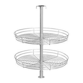 Household Essentials Double Tier Round Lazy Susan in Metal