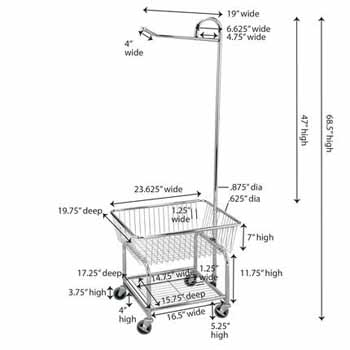 Household Essentials Launry Butler Measurements