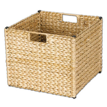 Household Essentials Banana Leaf Storage Bin in Natural Finish Min Cab Opening 13u0027u0027W x 13u0027u0027D x 11u0027u0027H  sc 1 st  KitchenSource.com & Baskets - Pull-Out Chrome Wire or Wicker Storage Baskets for Base ...