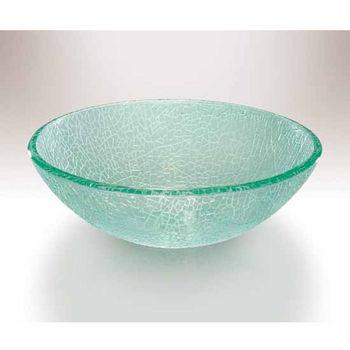 Small Glass Vessel Sinks : Wells Sinkware Art Glass Vessels - Small Crackles Bathroom Sink