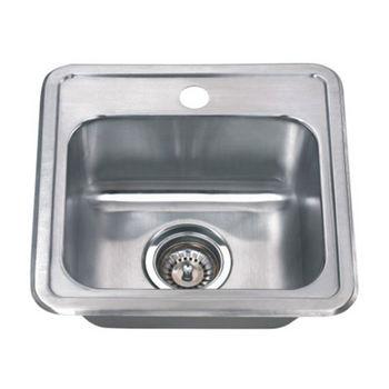 Wells Sinkware Wentworth Craftsmen Stainless Steel Single Bowl Topmount Kitchen Sink