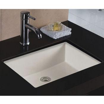 Wells Sinkware Rhythm Series Bisque China Undermount Bathroom Sink