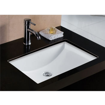 Wells Sinkware Rhythm Series White China Undermount Bathroom Sink 21 1 2 W X 15 D 7 3 4 H
