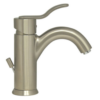 Whitehaus Galleryhaus Single Hole/Lever Bathroom Faucet with Pop-Up Waste in Brushed Nickel