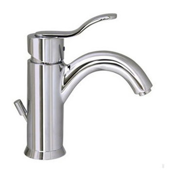 Whitehaus Galleryhaus Single Hole/Lever Bathroom Faucet with Pop-Up Waste in Polished Chrome