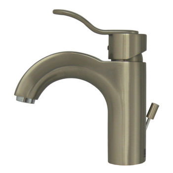 Whitehaus Single Hole/Single Level Bathroom Faucet in Brushed Nickel
