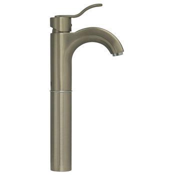Whitehaus Single Hole Bathroom Faucet in Brushed Nickel