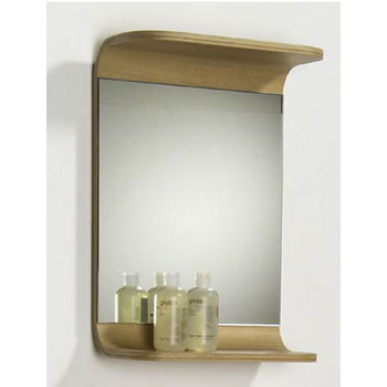 Framed bathroom mirrors wood framed mirrors stainless - Wooden bathroom mirror with shelf ...