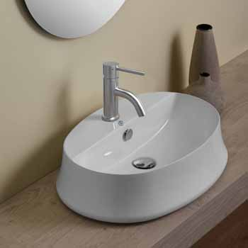 Oval With Faucet Hole - Lifestyle 1