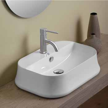 Rectangular With Faucet Hole - Lifestyle 1
