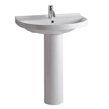 Whitehaus Isabella Collection U-Shaped Bathroom Basin Sink