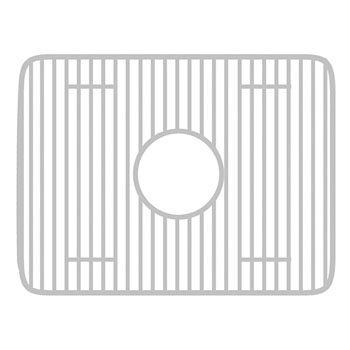 Whitehaus - Fireclay Sink Grid - Rectangular Shape, Stainless Steel
