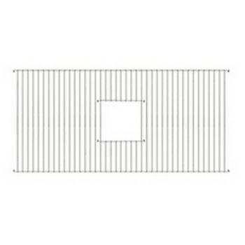 Whitehaus - Fireclay Sink Grid w/Center Drain Opening, Stainless Steel
