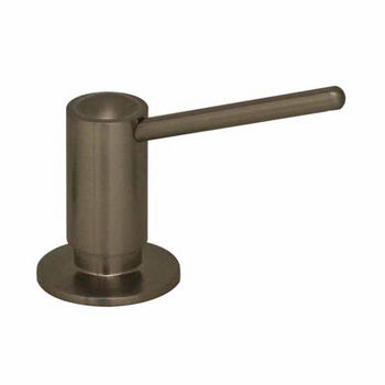 Captivating Whitehaus Luxe/Luxe+ Solid Brass Kitchen Soap/Lotion Dispenser, Brushed  Nickel