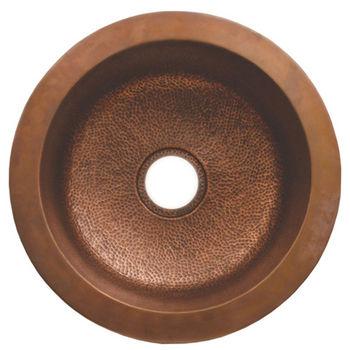 Whitehaus Copperhaus Round Drop-In/ Undermount Sink