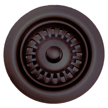 Whitehaus Waste Disposer Trim for Deep Fireclay Sink Applications, Mahogany Bronze