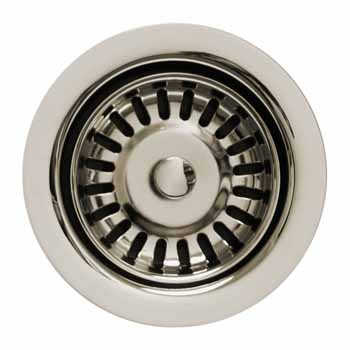 Whitehaus Waste Disposer Trim for Deep Fireclay Sink Applications, Polished Nickel