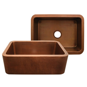 Whitehaus Copperhaus Rectangular Undermount Sink w/ Apron